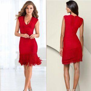 NWOT Venus Bandage Fringe Dress